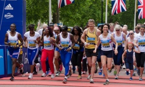 British Olympians run Bupa Westminster Mile